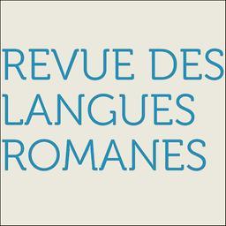 Revue des langues romanes / Société pour l'étude des langues romanes |